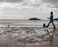 Walking on the mudflats in Rockcliffe when the tide is out